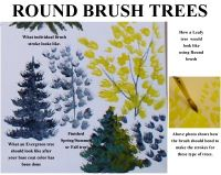 Round Brush Trees